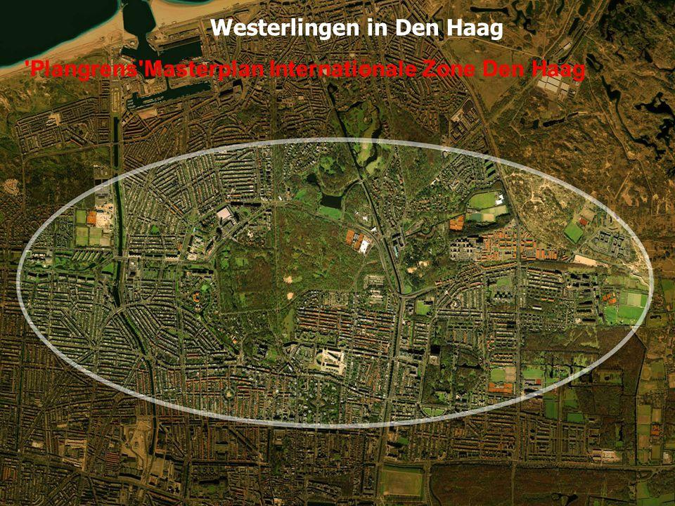 Plangrens Masterplan Internationale Zone Den Haag Westerlingen in Den Haag