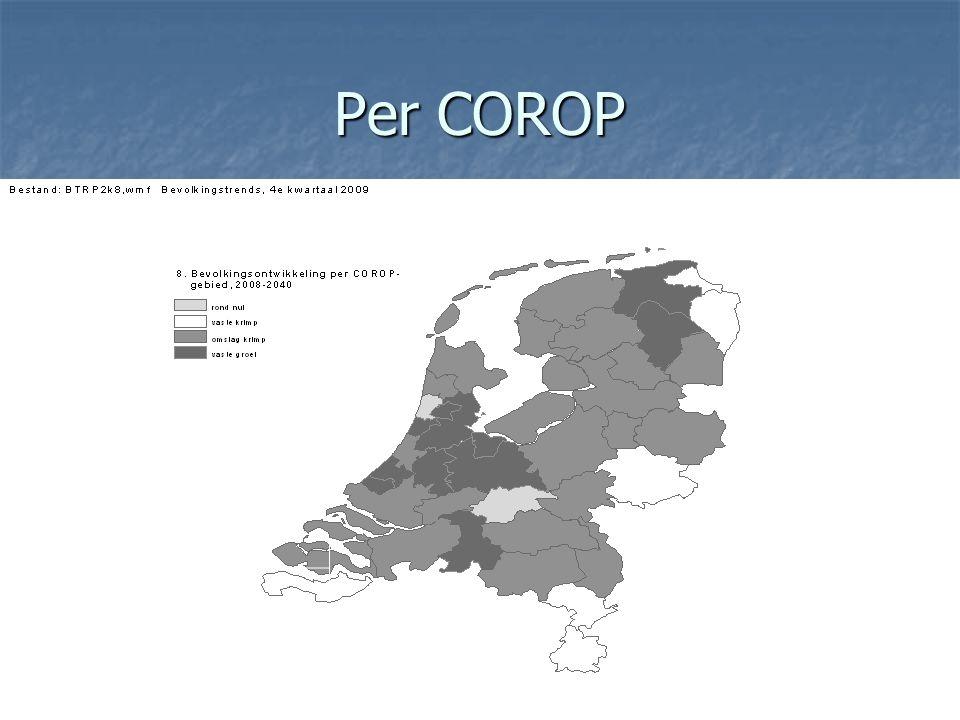Krimp en groei inwonertallen gemeenten tot 2040 Bron: CBS/PBL