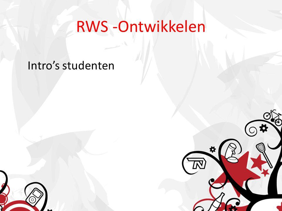 RWS -Ontwikkelen Intro's studenten