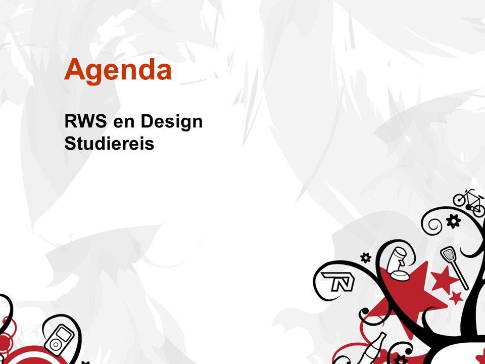 Agenda RWS en Design Studiereis