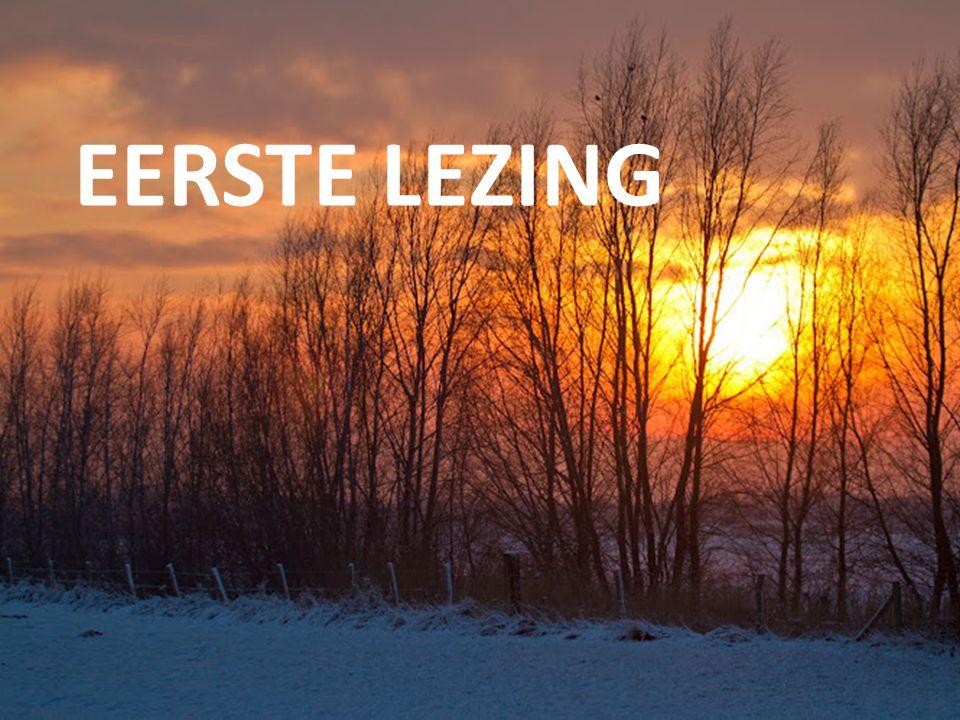 Welkom EERSTE LEZING