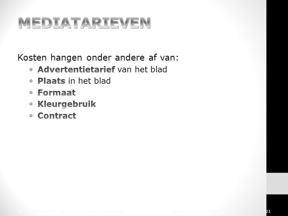© 2010 Noordhoff Uitgevers bv, Groningen/Houten Communicatie Handboek 21