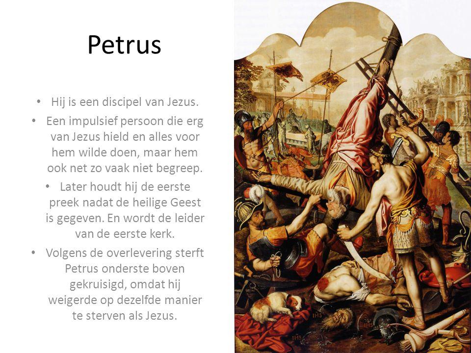 Petrus Hij is een discipel van Jezus.