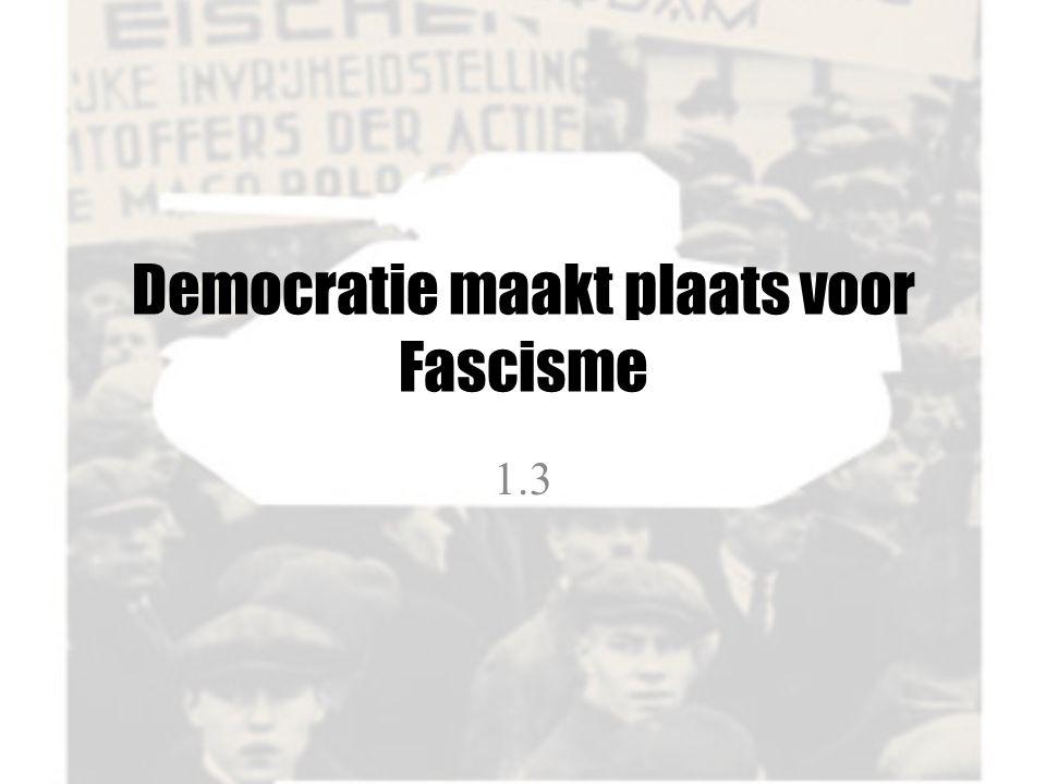 Democratie maakt plaats voor Fascisme 1.3