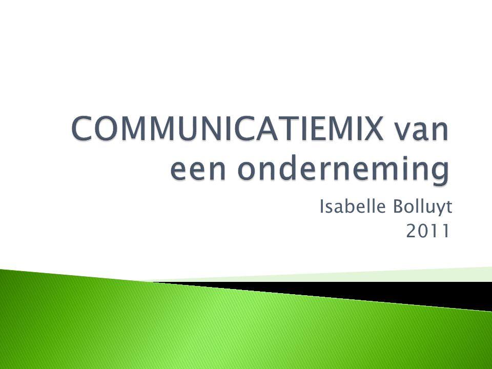 Marketingcommunicatiestrategie  Gaat het om de onderneming of organisatie als geheel  MISSIE & VISIE  Corporate communicatie of bedrijfscommunicatie overkoepelt drie hoofdvormen van communicatie: - managementcommunicatie - marketingcommunicatie - organisatiecommunicatie