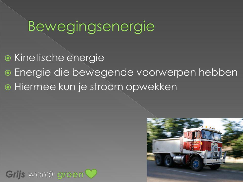 WWindenergie Minder milieu vervuiling Wel duur en neemt veel ruimte in beslag WWaterenergie Levert veel energie op, goedkoop Het neemt veel ruimte in beslag