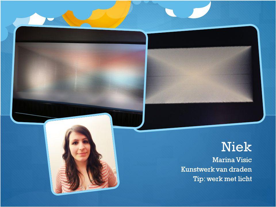 Marina Visic Kunstwerk van draden Tip: werk met licht Niek