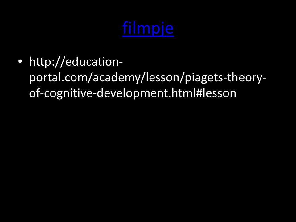 Cognitieve leerontwikkeling De vier factoren: Biologische volwassenwording Activiteit Sociale ervaring Equilibratie ( zoeken naar evenwicht)