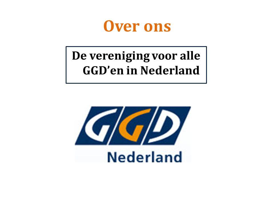 Over ons De vereniging voor alle GGD'en in Nederland