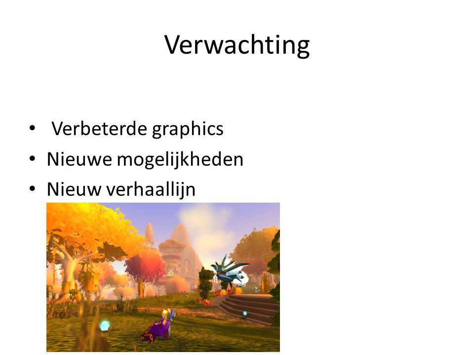 Verwachting Verbeterde graphics Nieuwe mogelijkheden Nieuw verhaallijn