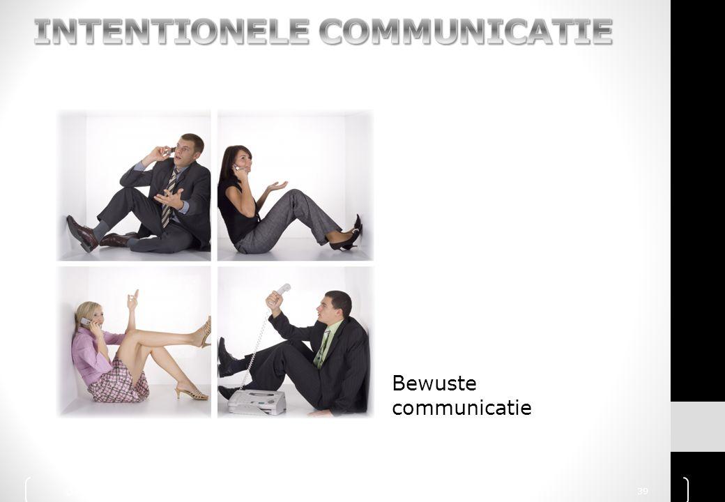 Bewuste communicatie © 2010 Noordhoff Uitgevers bv, Groningen/Houten Communicatie Handboek 39