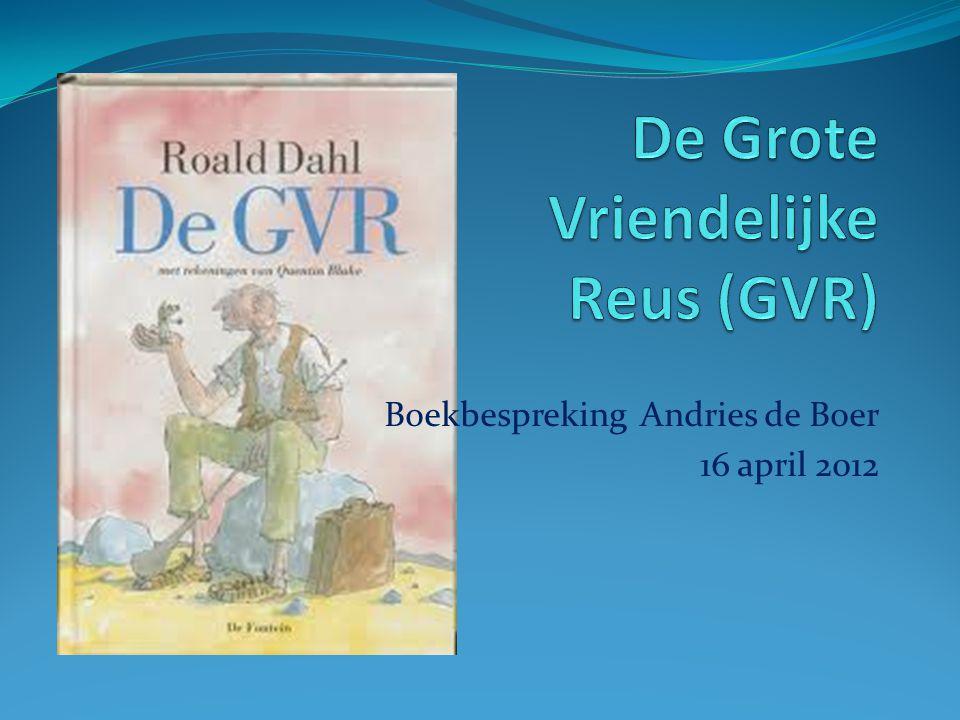 Boekbespreking Andries de Boer 16 april 2012