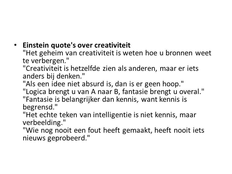 Einstein quote's over creativiteit
