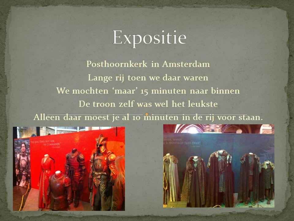 Posthoornkerk in Amsterdam Lange rij toen we daar waren We mochten 'maar' 15 minuten naar binnen De troon zelf was wel het leukste Alleen daar moest je al 10 minuten in de rij voor staan.