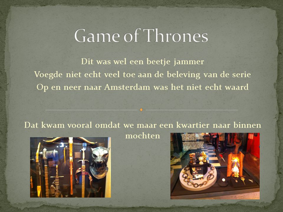 'The Iron Trone' Kostuums Video game Kostuums Probs Items Behind-the-scenes