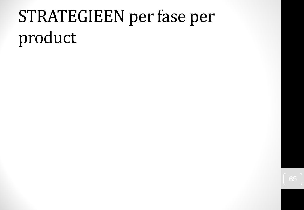 65 STRATEGIEEN per fase per product