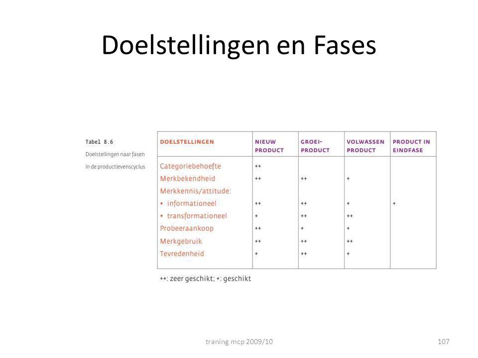 Doelstellingen en Fases traning mcp 2009/10107