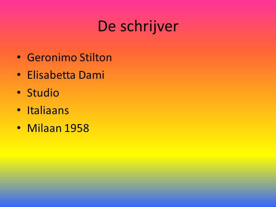 De schrijver Geronimo Stilton Elisabetta Dami Studio Italiaans Milaan 1958