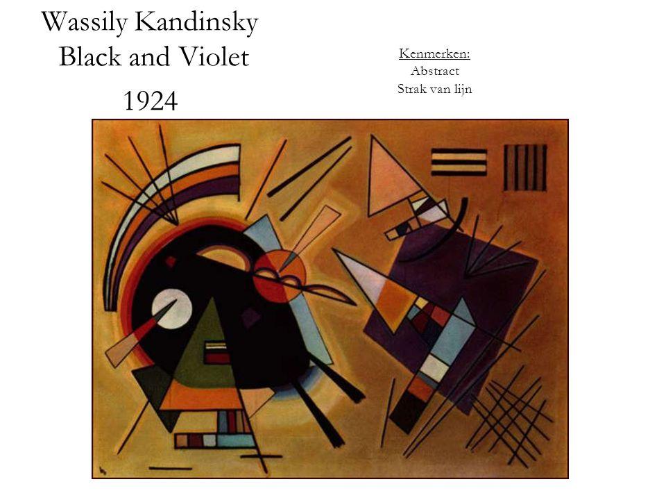 Wassily Kandinsky Black and Violet 1924 Kenmerken: Abstract Strak van lijn