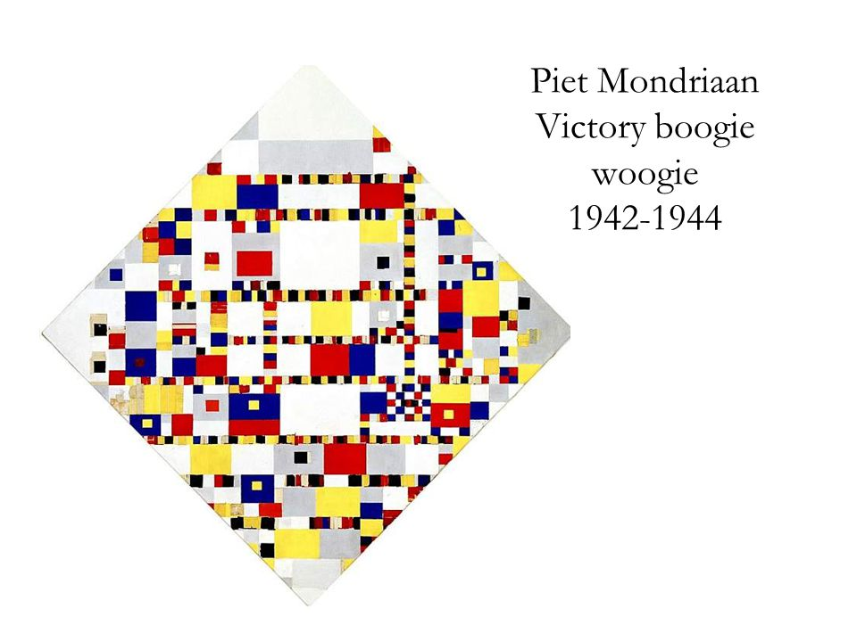 Piet Mondriaan Victory boogie woogie 1942-1944