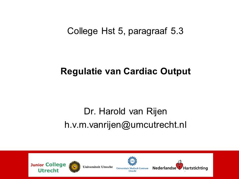 Regulatie Cardiac Output: Contractiliteit