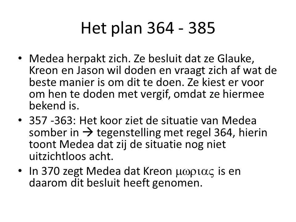 Het plan 364 - 385 Medea herpakt zich.