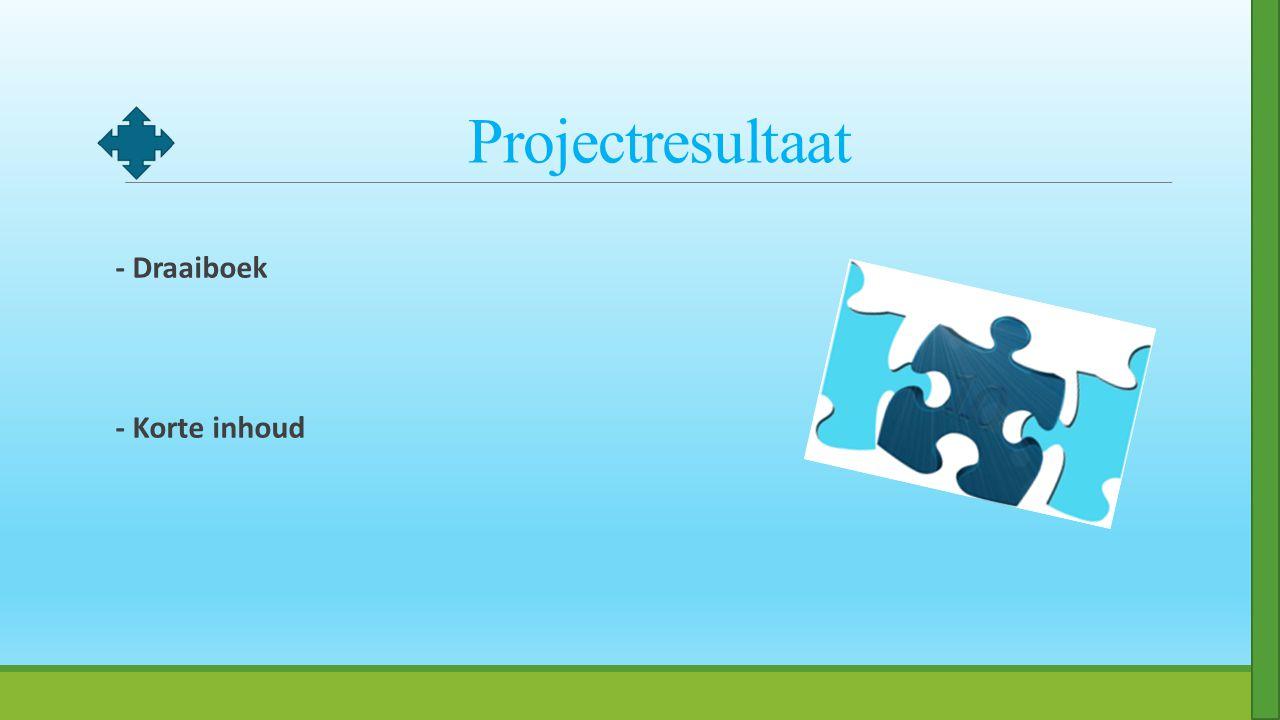 Projectresultaat - Draaiboek - Korte inhoud