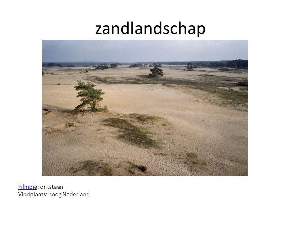 zandlandschap FilmpjeFilmpje: ontstaan Vindplaats: hoog Nederland