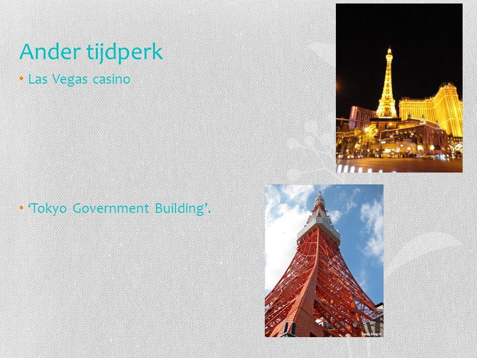 Ander tijdperk Las Vegas casino 'Tokyo Government Building'.