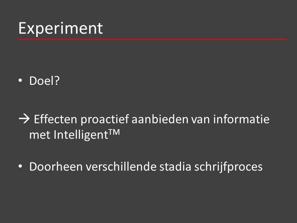 Experiment Doel.