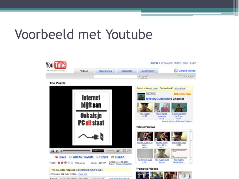 Voorbeeld met Youtube
