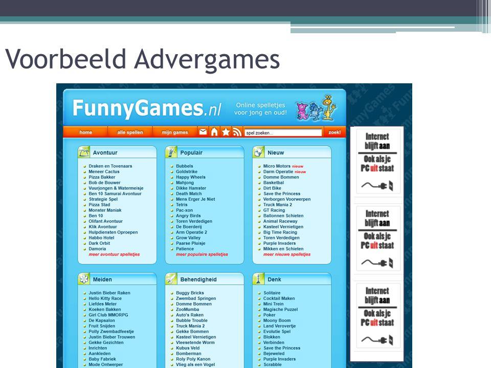 Voorbeeld Advergames