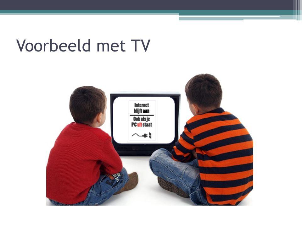 Voorbeeld met TV