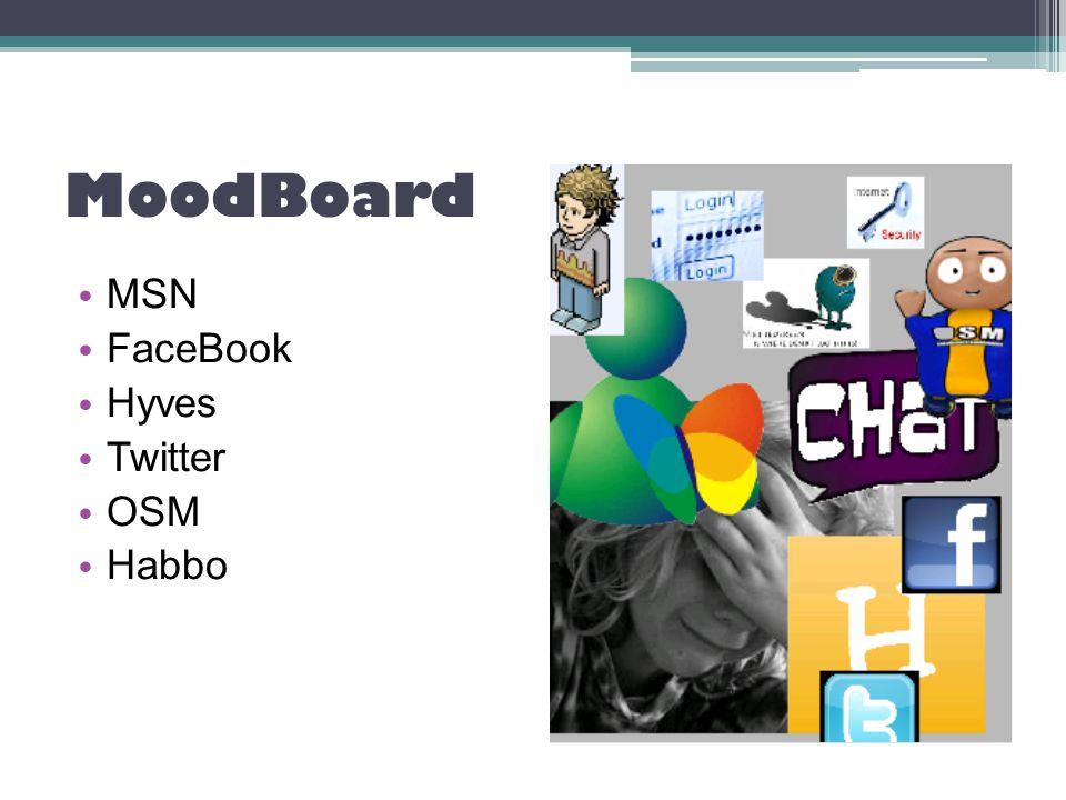 MoodBoard MSN FaceBook Hyves Twitter OSM Habbo