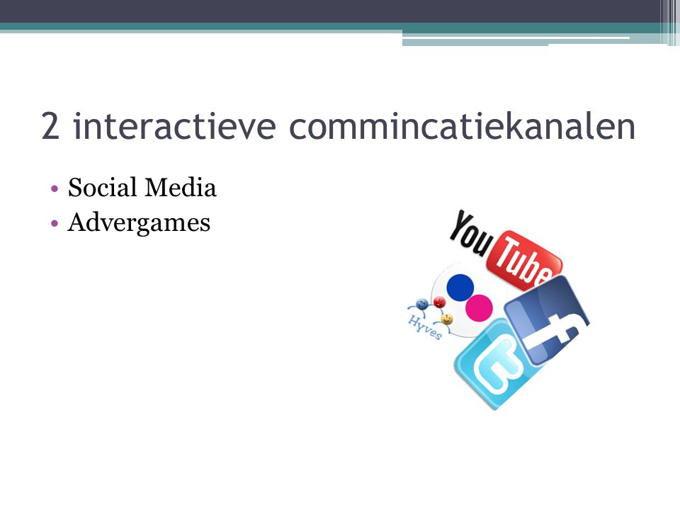 2 interactieve commincatiekanalen Social Media Advergames