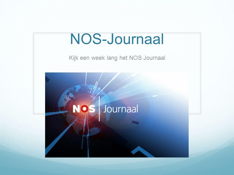 NOS-Journaal Kijk een week lang het NOS Journaal