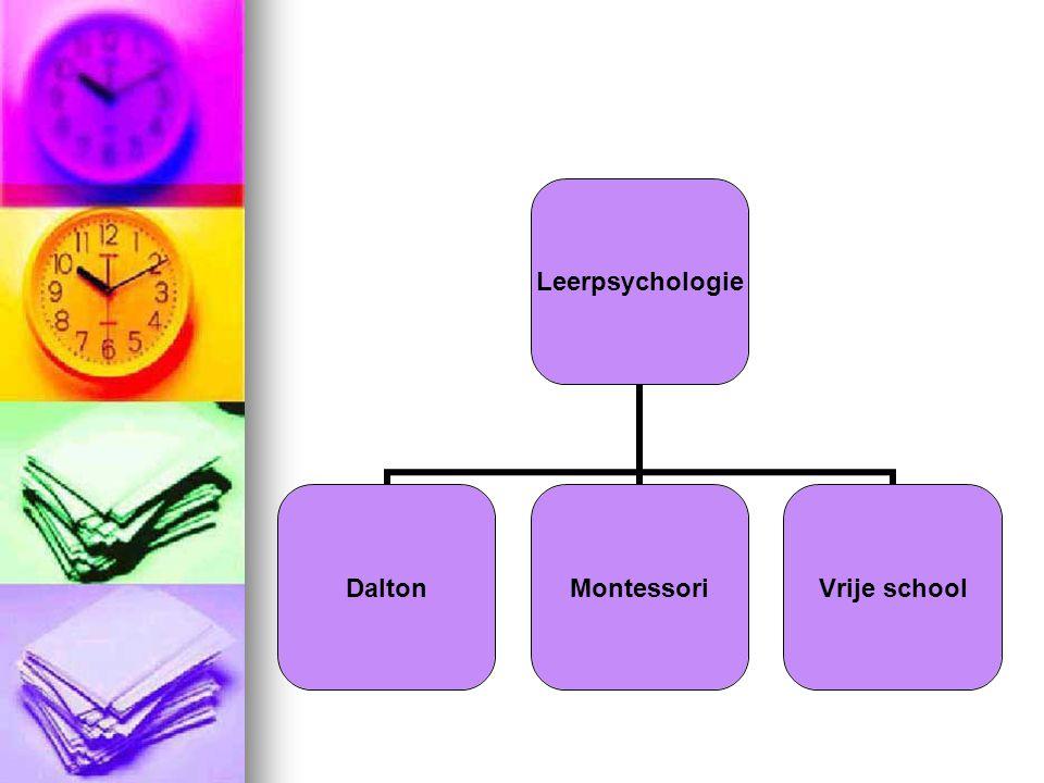 Leerpsychologie DaltonMontessoriVrije school