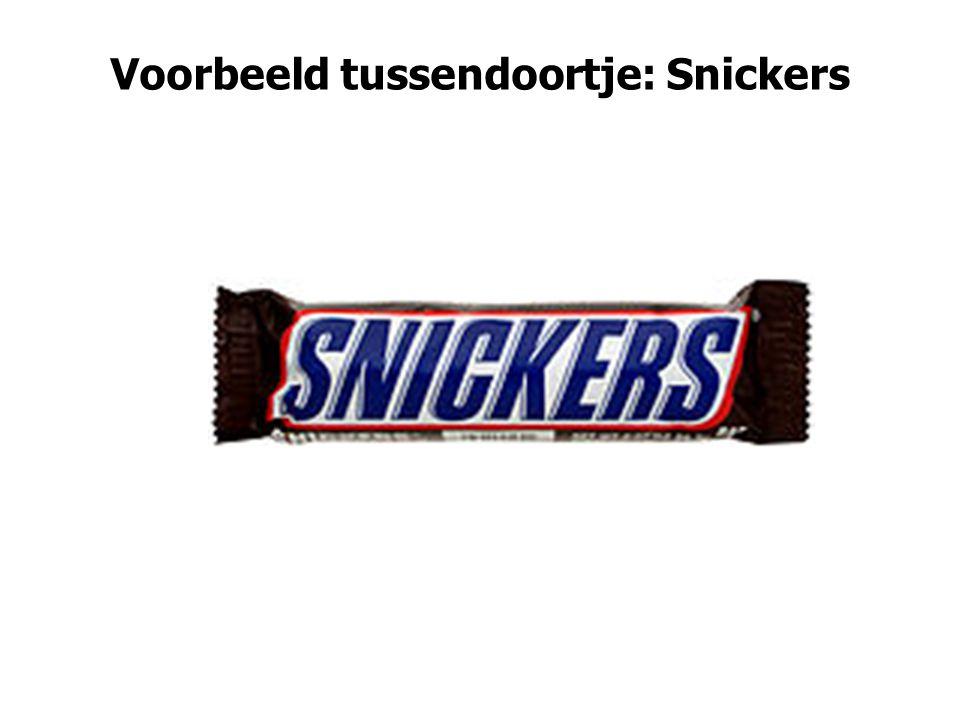Voorbeeld tussendoortje: Snickers