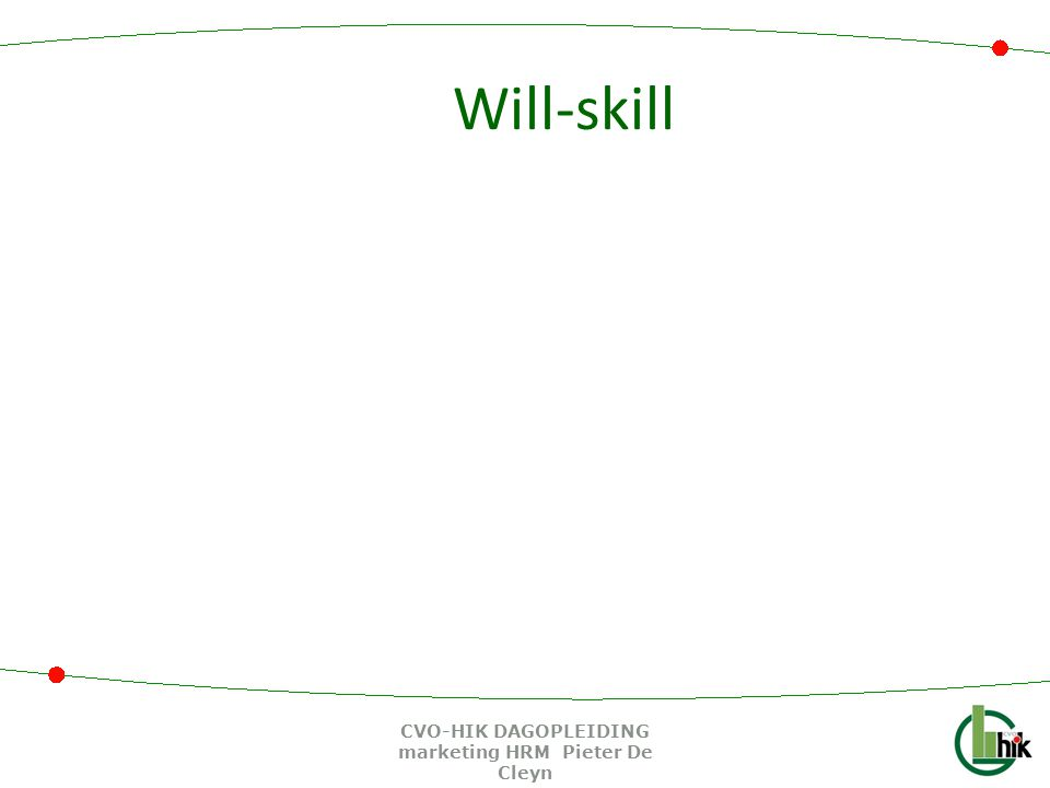 Will-skill CVO-HIK DAGOPLEIDING marketing HRM Pieter De Cleyn