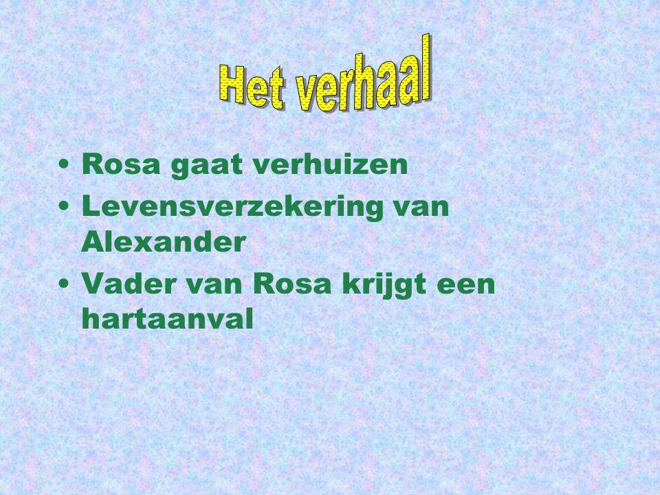 Rosa gaat verhuizen Levensverzekering van Alexander Vader van Rosa krijgt een hartaanval