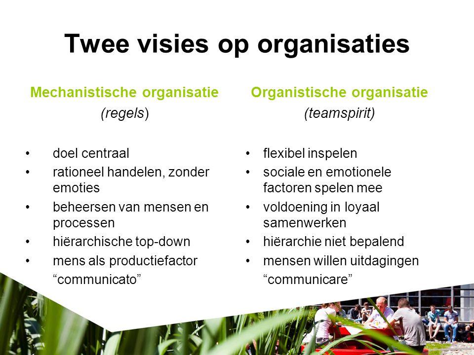 Case Neem in gedachten de interne communicatie van de organisatie waar je werkt/hebt gewerkt: Wat voor soort organisatie is 'jouw' organisatie.