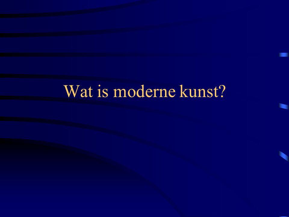 Moderne kunst is de term die algemeen gebruikt wordt voor de avant-gardistische artistieke uitingen vanaf het begin van de 20e eeuw tot ongeveer de jaren 60.