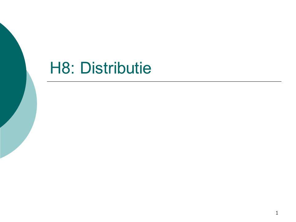 1 H8: Distributie