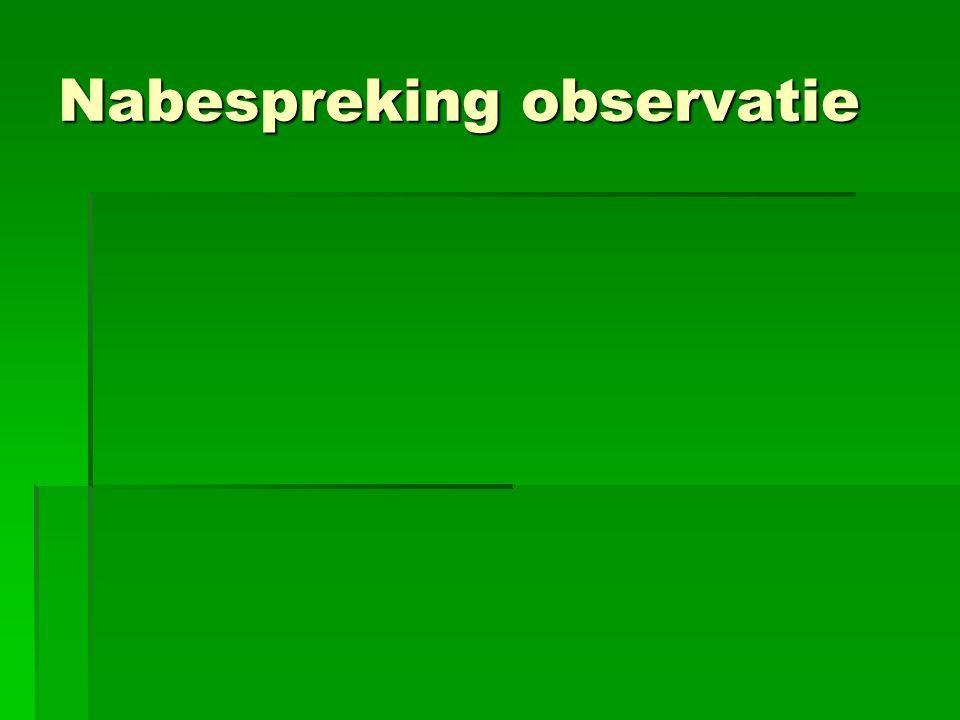 Nabespreking observatie