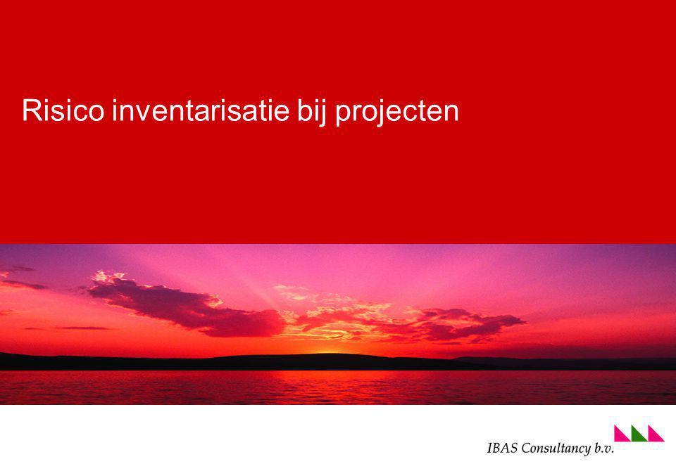 foto voettekst (ga naa menu beeld om aan te passen) Risico inventarisatie bij projecten