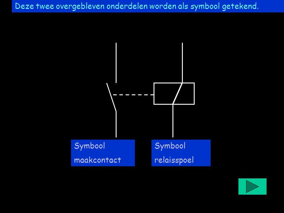 Project easyrelais Deze twee overgebleven onderdelen worden als symbool getekend. Symbool relaisspoel Symbool maakcontact
