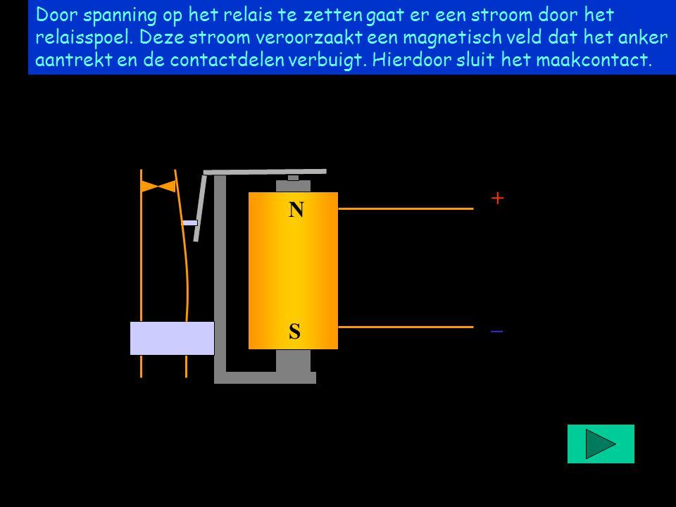 Project easyrelais +_+_ NSNS Door spanning op het relais te zetten gaat er een stroom door het relaisspoel. Deze stroom veroorzaakt een magnetisch vel