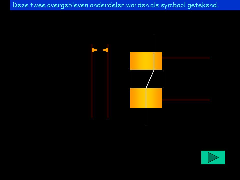 Project easyrelais Deze twee overgebleven onderdelen worden als symbool getekend.
