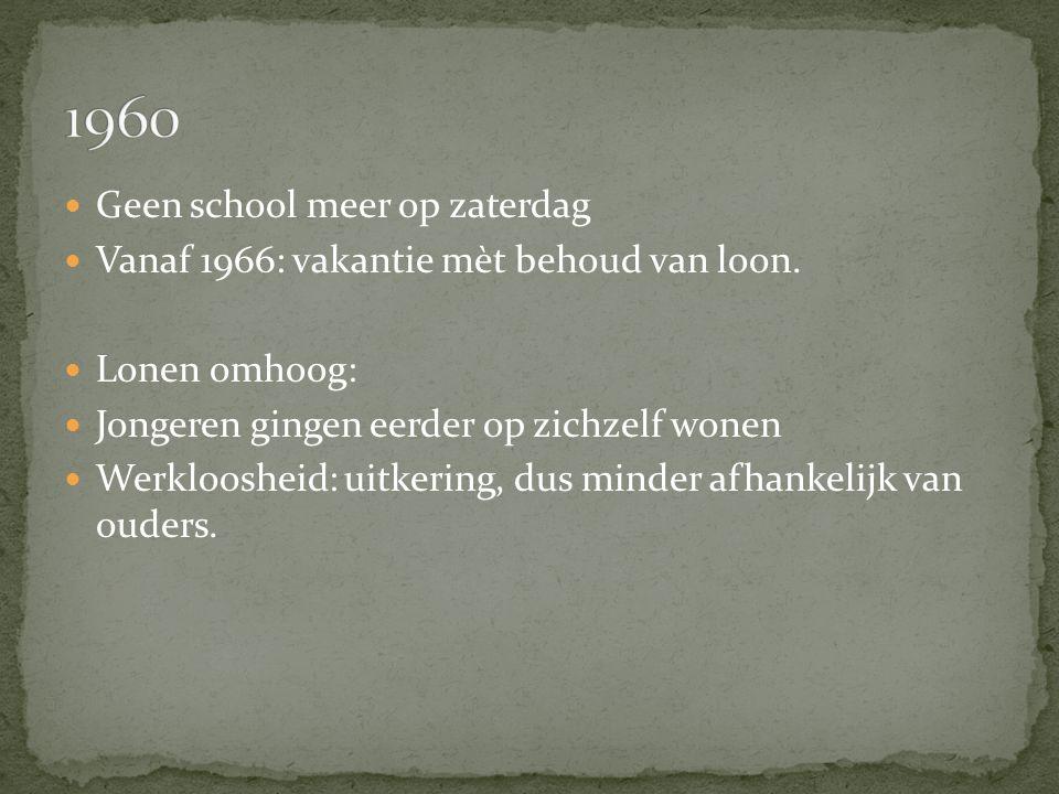 Geen school meer op zaterdag Vanaf 1966: vakantie mèt behoud van loon.
