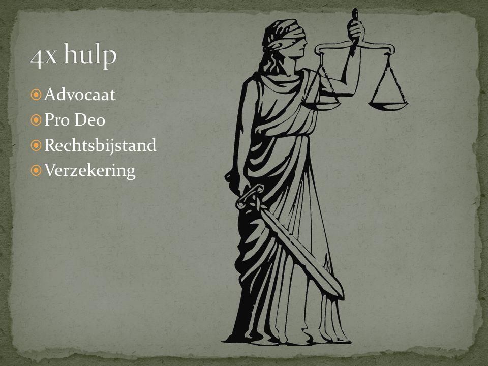  Advocaat  Pro Deo  Rechtsbijstand  Verzekering